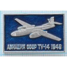 """Значок серия """"Авиация СССР"""" ТУ-14, 1949"""