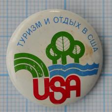 Значок - Туризм и отдых в США, USA