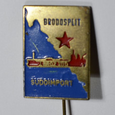 Значок Brodosplit Sudoimport, Бродосплит судоимпорт, Хорватия