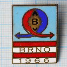 Значок - Выставка в Брно. BRNO. 1966. Чехословакия