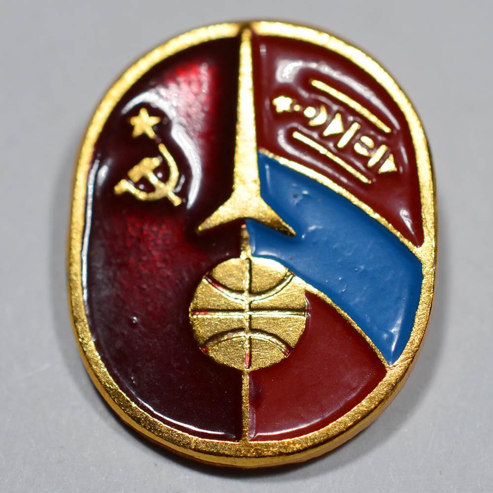 Значок Интеркосмос СССР - Монголия (МНР)