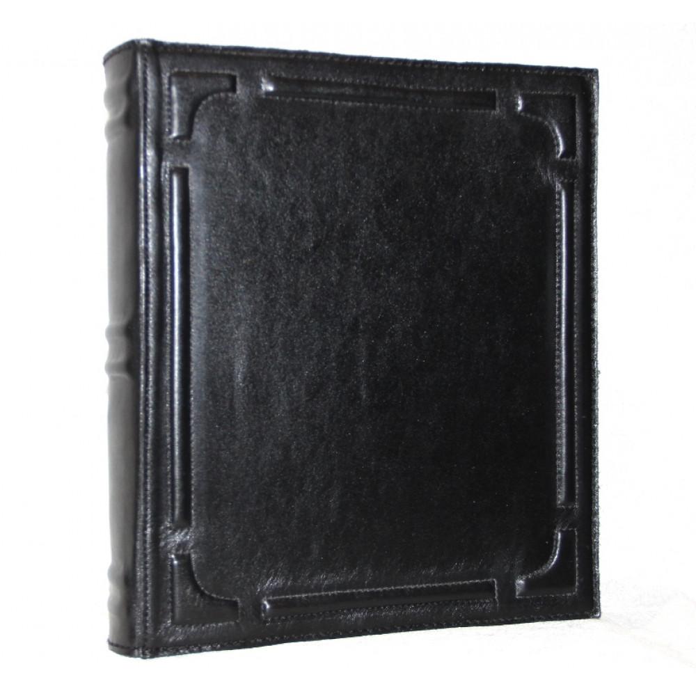 Альбом для монет и бон из натуральной кожи (Черный)