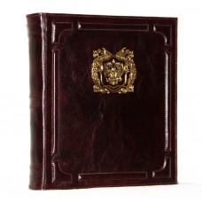 Альбом для монет и бон из натуральной кожи с золотым тиснением