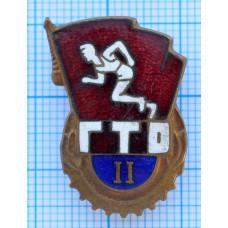 Знак - ГТО, Готов к труду и обороне, II разряд, СССР. Тяжелый