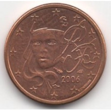 1 евроцент 2006 года Франция - 1 euro cent 2006 France