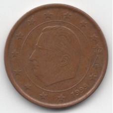 5 евроцентов 1999 Бельгия - 5 euro cent 1999 Belgium, из оборота