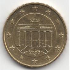 10 евроцентов 2002 года Германия - 10 euro cent 2002 Germany, D, из оборота