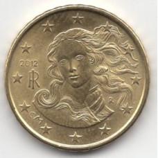 10 евроцентов 2012 года Италия года - 10 euro cents 2012 Italy, из оборота
