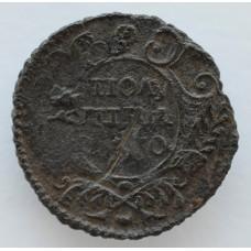 Монета Полушка 1730 г. Анна Иоанновна.