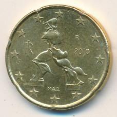 20 евроцентов 2010 года Италия года - 20 euro cents 2010 Italy, из оборота