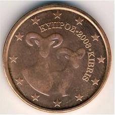 5 евроцентов 2008 года Кипр - 5 euro cent 2008 Cyprus, из оборота