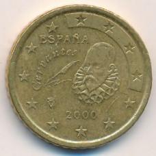 50 евроцентов 2000 года Испания - 50 euro cents 2000 Spain, из оборота