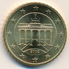 50 евроцентов 2002 года Германия - 50 euro cents 2002 Germany, A, из оборота
