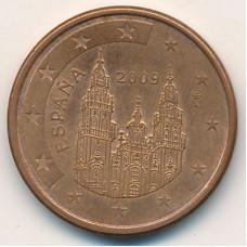 5 евроцентов 2009 Испания - 5 euro cent 2009 Spain, из оборота