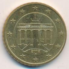 50 евроцентов 2002 года Германия - 50 euro cent 2002 Germany, F, из оборота