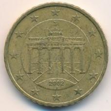 50 евроцентов 2002 года Германия - 50 euro cents 2002 Germany, J, из обращения