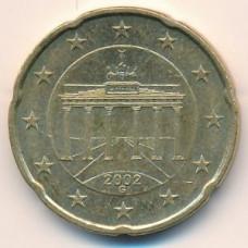20 евроцентов 2002 года Германия - 20 euro cent 2002 Germany, G, из оборота
