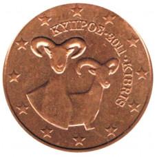 5 евроцентов 2011 года Кипр - 5 euro cent 2011 Cyprus, из оборота