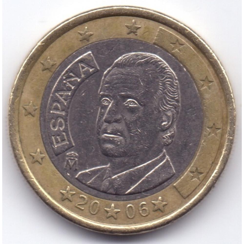 1 евро 2006 года Испания - 1 euro 2006 Spain, из оборота