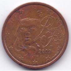 5 евроцентов 2002 Франция - 5 euro cents 2002 France, из оборота