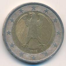 2 евро 2002 года Германия - 2 euro 2002 Germany, D, из оборота