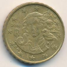 10 евроцентов 2002 года Италия - 10 euro cent 2002 Italy, из оборота