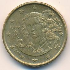 10 евроцентов 2009 Италия - 10 euro cents 2009 Italy, из оборота