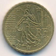 10 евроцентов 2001 года Франция - 10 euro cents 2001 France, из оборота