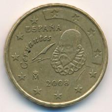 10 евроцентов 2008 года Испания - 10 euro cents 2008 Spain, из оборота