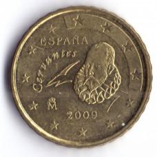 10 евроцентов 2009 года Испания - 10 euro cents 2009 Spain, из оборота