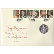 5 фунтов 2013 Великобритания. 60 лет коронации Королевы Елизаветы II. RRR. Proof.