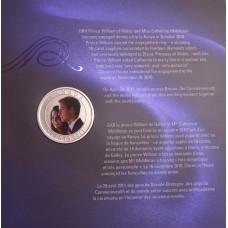25 центов Канада 2011 год Свадьба принца Уильяма и Кейт Миддлтон. В буклете