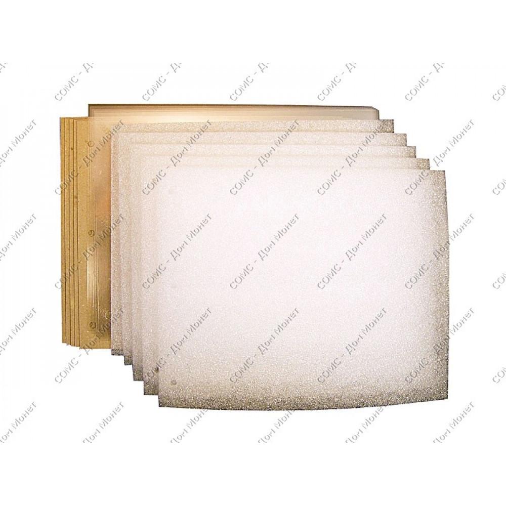 Комплект для Горизонтального альбома под значки. Размер 230Х210 мм.