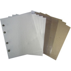 Комплект для Вертикального альбома под значки, ткань (белая, для лёгких знаков). Стандарт OPTIMA. Размер 200Х250 мм.