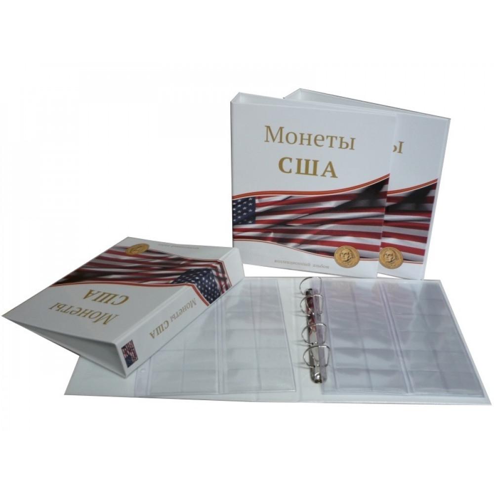 Альбом ламинированный для монет США с 10 листами