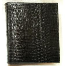 б. Альбом для монет из натуральной кожи по рептилию черный