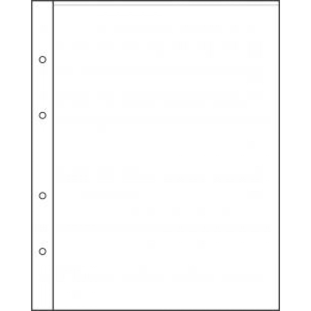 "Лист для хранения банкнот на 1 ячейку. Стандарт ""NUMIS"". Размер 190Х219 мм."