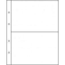 "Лист для хранения банкнот на 2 ячейки. Стандарт ""NUMIS"". Размер 190Х219 мм."