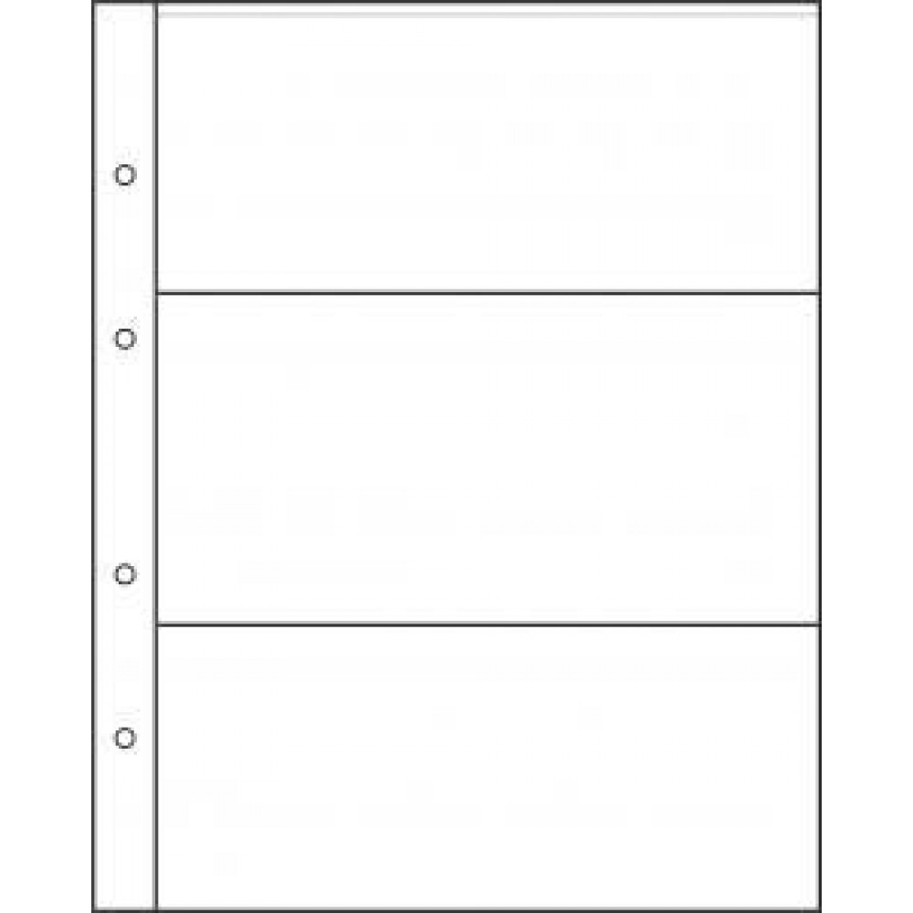 "Лист для хранения бон, открыток, календариков на 3 ячейки. Стандарт ""GRAND"". Размер 250Х310мм."