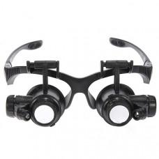 Лупа-очки ювелирные с LED подсветкой 20X