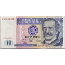 Банкнота 10 Интис 1987 Перу - Diez Intis 1987 Peru