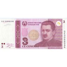 3 Се Сомони 2010 Таджикистан
