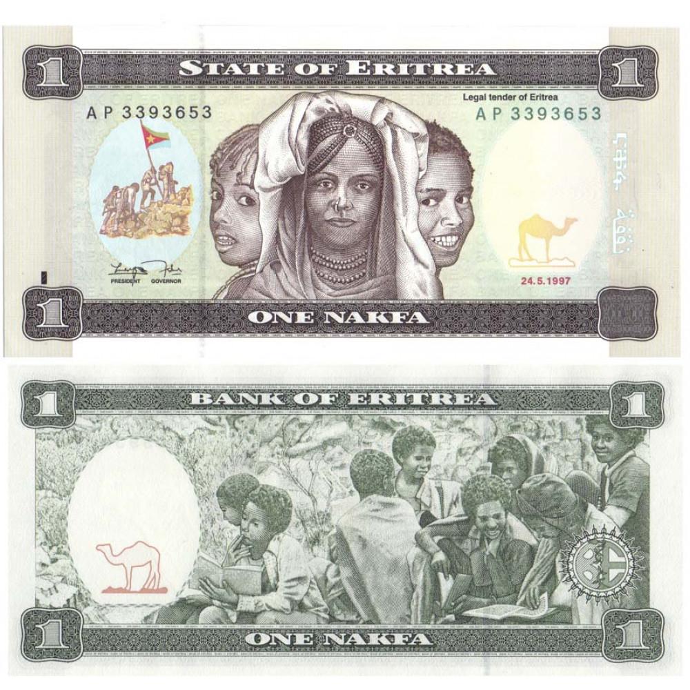 Банкнота 1 ONE NAKFA ERITREA 1997