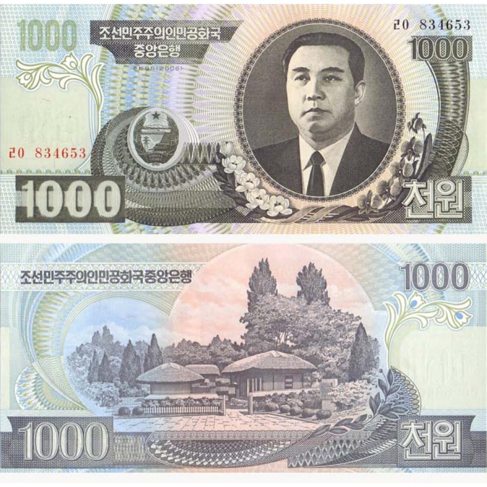 КНДР 1000 вон 2006