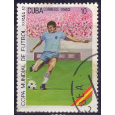 1982 Январь Куба Чемпионат Мира по Футболу - Испания 10 сентаво