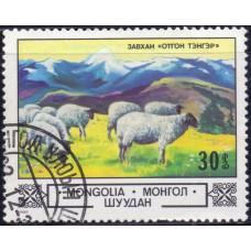 1982, ноябрь. Почтовая марка Монголии. Животные и пейзажи. 30 монго