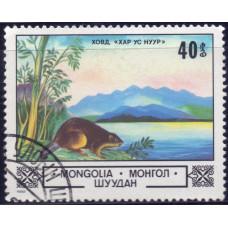 1982, ноябрь. Почтовая марка Монголии. Животные и пейзажи. 40 монго
