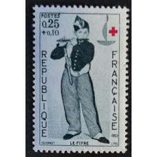 1963, декабрь. Почтовая марка Франции. Красный Крест