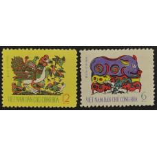 1962, январь. Набор почтовых марок Вьетнама. Новый год
