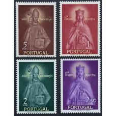 1958, июль. Набор почтовых марок Португалии. Королева Санта-Изабель и Фестиваль Святого Теотония